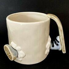 Vintage 1978 Fitz & Floyd Ski-Lympics Mug Cup Hand Painted Skier Accident Humor