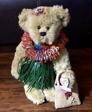 "Annette Funicello ""Hawaiianette� Plush Bear With Stand 13.5� Tall Euc"