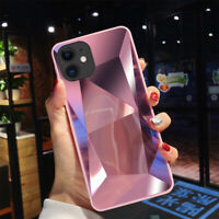 For iphone 11 Pro Max Fitted Case Luxury Mirror Diamond Texture Glossy Cover