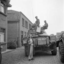 WW2  Photo WWII Dutch Civilian British Armored Car  1944 World War Two / 1605