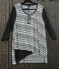 TS 14+ Fairground Top Black White Stripe S BNWT RRP$119.95