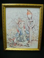 Beatrix Potter framed print, Peter Rabbit 8x10