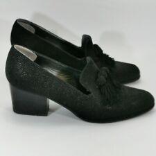 RUSSELL AND BROMLEY Black Peep Toe Ladies Tassled Heels Size UK 6.5 301626