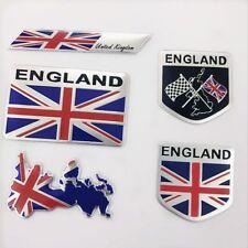 5PCS 3D Decal Metal Emblem Badge Car Front Side Logo Sticker for United Kingdom