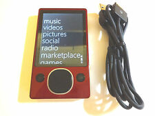 MICROSOFT  ZUNE  CUStOM  RED/BLACK  120GB...NEW  BATTERY...