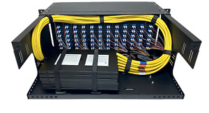 4RU 96 Port Fiber Optic LIU Rack Mount Panel Enclosure LC Singlemode Pigtails