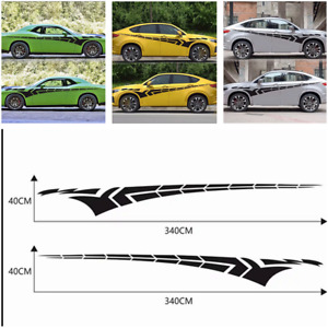 Car Truck Flying wing Graphics Vinyl Body Decal Side Hood Car Stickers 340x40cm