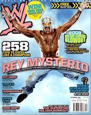 WWE Magazine December 2008 Rey Mysterio On Cover Wrestling
