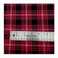 100/% Cotton Flannel Flannel Fabric By the yard Black Bear Buffalo Check Stripe