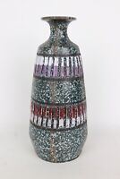 Speckled Multicolor Patterned Glazed Brutalist Stoneware Vase Made in Italy MCM