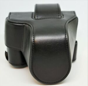Canon BAG For Canon EOS M50 - M5 Black Leather Case in Excellent Condition