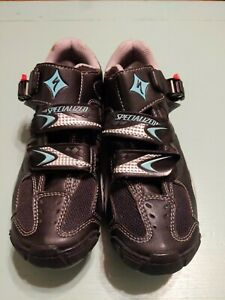 Specialized BG Body Geometry Mountain Cycling Shoe Cleats Women Sz US 7 EU 37