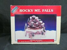 Lemax Village Collection Rocky Mt. Falls Set MIB HE251