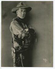 William S Hart 1940 Portrait Photo Cowboy Western Silent Film Star Sepia Color