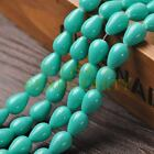 New Arrival 10pcs 14X10mm Teardrop Shape Loose Spacer Glass Beads Lake Green