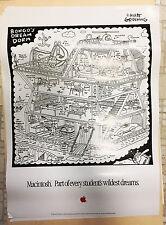 RARE Vintage Apple Macintosh Poster Bongo's Dream Dorm - Matt Groening Life Hell