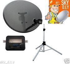 Freesat / Sky 80cm Zone 2 Satellite Dish, Quad, Tripod, finder