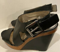 Michael Kors  Leather sandals WEDGE Size  9.5