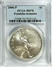 New listing 2006-P Franklin-Scientist Commemorative Dollar Pcgs Ms 70 #Ga1-34