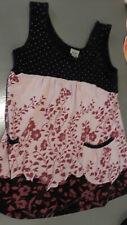 Short dress or tunic black, pink, purple sz S (7-8)