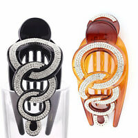 Elegant Full Crystal Women Hair Clip Hairpin Rhinestone Clamp Claw Headwear A*
