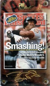 2001 AUTHENTIC IMAGES SPORTS ILLUSTRATED BARRY BONDS GIANTS