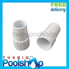 2 x Hose End Cuff Left Hand 38mm for Pool Vacuum Hose