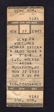 1983 Cheap Trick Aldo Nova Full Concert Ticket Muskegon Mi Next Position Please