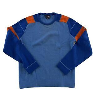 VTG Demetre Pullover Pure Virgin Wool Sweater Men's M Orange Blue