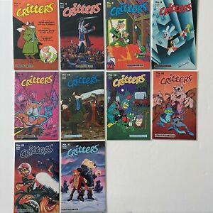 CRITTERS 2 4 5 8 9 12 13 15 16 17 (1986 1987, FANTAGRAPHICS)