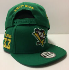 12ffe3e099d20 Greg Goldberg D-5 Mighty Ducks Movie Authentic Hockey Snapback Hat Cap Flat  Brim