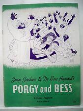 PORGY AND BESS Souvenir Program WILLIAM FRANKLIN / ETTA MOTEN / AVON LONG 1944