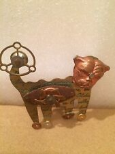 ** VINTAGE 1995 ARTISAN BETH PIVER STEAMPUNK PIN/BROACH-DOG WITH MOVING GEARS