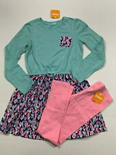 Gymboree NWT Mix N Match Size 10-12 Knit Hearts Dress Pink Leggings Outfit