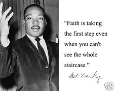 """Martin Luther King Jr. MLK """" Faith is"""" Famous Quote 11 x 14 Photo Picture # mf2"""