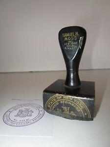 Vintage New York State Official Licensed Engineer Seal Stamper Rubber Stamp