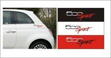 FIAT 500 SPORT logo adesivi ABARTH X2 SCEGLI COLORE