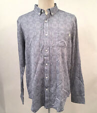 Obey Men's Long Sleeve Woven Button Down Shirt Warwick Indigo Size XL NWT