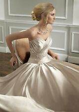 Cheap Mori Lee 1661 Wedding Dress Ivory UK12 Satin