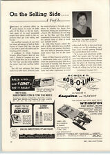 1964 PAPER AD Bob A Link Withington 4' 5' 6' Bobsled Tinker Toy Zoo