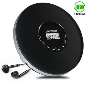 Rechargeable Portable CD Player Anti-Skip Last Memory for Car &Children+Headsets
