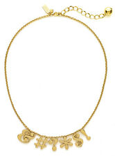 "NWT KATE SPADE ""PARDON MY FRENCH"" GOLD NECKLACE IMPOSIBLE TO FIND SO SASSY!"