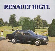 Renault 18 GTL 1647cc Saloon 1981-82 UK Market Foldout Sales Brochure