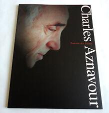 CHARLES AZNAVOUR JAPAN TOUR CONCERT PROGRAM BOOK 2007 Tournee des Adieux