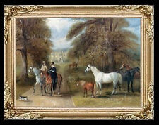 English Country Horse Ride Miniature  Dollhouse Picture