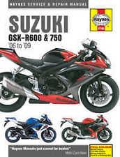Suzuki GSX R600 R750 Haynes Manual Repair Manual Workshop Manual 2006-2009