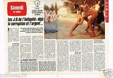 Coupure de presse Clipping 1984 (2 pages) Les JO de l'Antiquité la Corruption