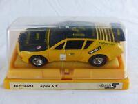 SCALEXTRIC RENAULT ALPINE A 310 Calberson ref 090211 SLOT CAR + boite