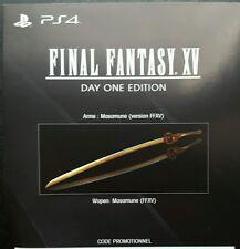 Final Fantasy XV PS4 DLC-Masamune arme (Game Pack) pas plein jeu