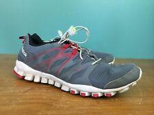 Reebok Men's RealFlex Train 4.0 Training Shoes - Size 10.5 - Gray & Red